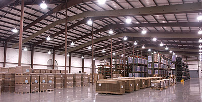 HVO has over 100,000 square feet of warehouse space for material storage